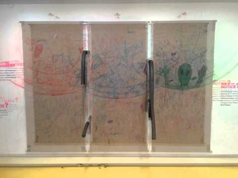 Creative Learning centre - drawing wall over time.