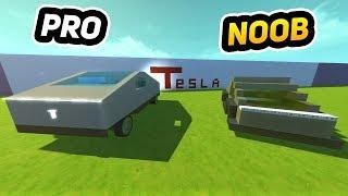 NOOB vs PRO Tesla CyberTruck!! (Scrap Mechanic Gameplay)