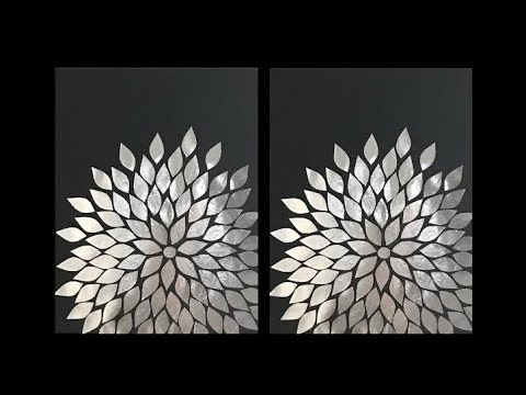aluminum foil diy wall art decor youtube