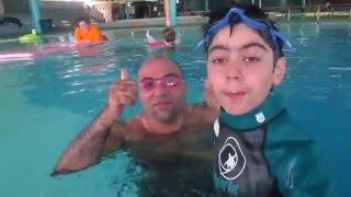 تحديات# تحدي المسبح مع أبوي  و اختي The swimming pool challenge