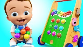 Pong Walker Color Balls Wooden ToySet 3D Colors for Children to Learning with Baby Fun Play Kids Edu