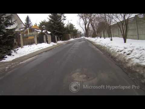 Łódź - Starowa Góra - Łódź (2017-02-04), Microsoft Hyperlapse Pro, faster