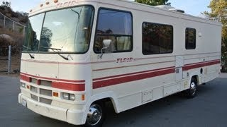Fleetwood Flair Motorhome RV Camper Family Camping Coach For Sale 33K Orig Miles
