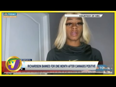 Sha'carri Richardson Banned for a Month After Cannabis Positive Results- July 2 2021