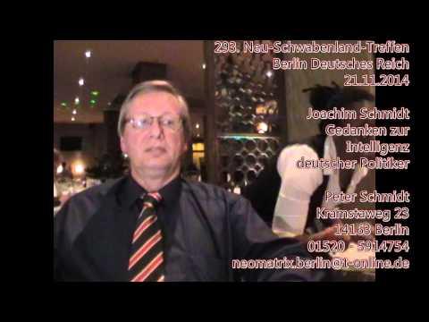 Joachim Schmidt Intelligenz deutscher Politiker 293. Neu-Schwabenland-Treffen 21.11.2014