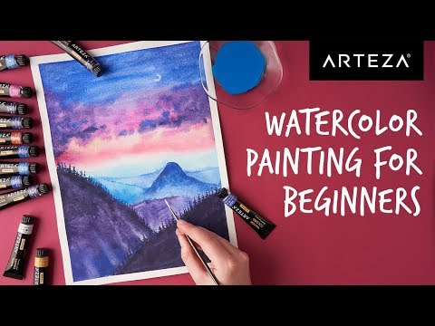 Watercolor Painting for Beginners – Colorful Landscape