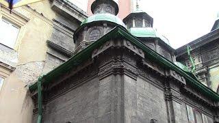 Three Hierarchs Chapel. Часовня трех святителей. Львов.(Часо́вня трёх святи́телей — часть ансамбля Успенской церкви во Львове (Украина), памятник архитектуры...., 2015-08-28T17:45:43.000Z)