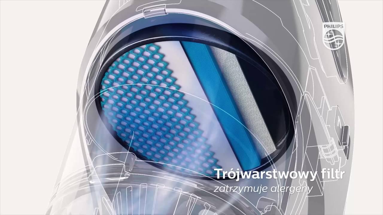 Philips Powerpro Aqua 3w1 Odkurzacz Z Funkcją Mycia Podłogi I
