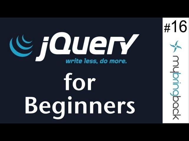 jQuery and AJAX Tutorials 16 | jQuery Animations