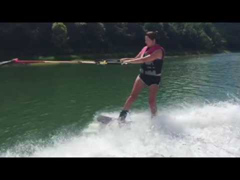 Wakeboarding on Center Hill Lake
