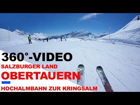 Obertauern, Skiabfahrt der Piste 21a von der Hochalm mit der Gear360