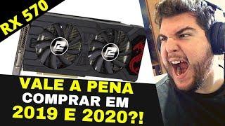 RX 570 VALE A PENA PARA 2019 E 2020? OVERCLOCK E TEMPERATURA! RED DEAD 2 1080P 60 FPS ULTRA INCRÍVEL