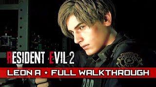 RESIDENT EVIL 2 REMAKE (Leon A/1st Run) – Full Gameplay Walkthrough / No Commentary 【Full Game】