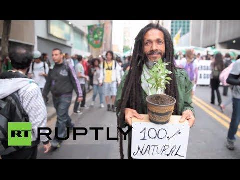 Massive marijuana march calls for pot legalization in Brazil