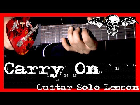 Carry On Guitar Solo Lesson - Avenged Sevenfold (with tabs)