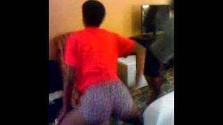 I caught my sister shaking her booty