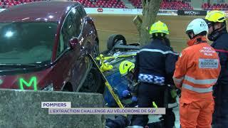 Pompiers : Extraction Challenge au Vélodrome national