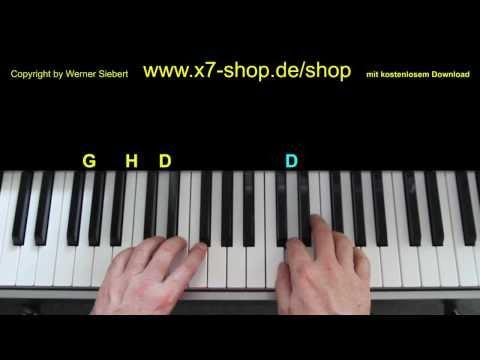 Schneeflöckchen Weißröckchen Klavier Tutorial