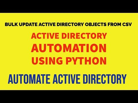 How To Bulk Update Active Directory Users From Csv Using