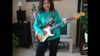 Titiek AR of Dara Puspita plays Proud Mary from Creedence Clearwater Revival
