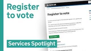 Register to vote on GOV.UK