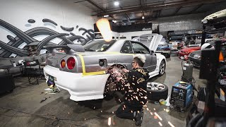 Cutting up a Beautiful R34 Skyline..