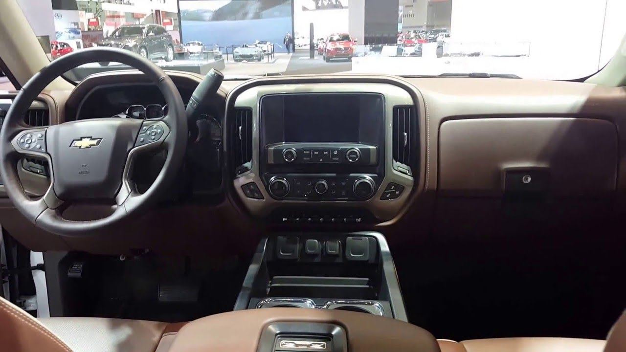 2016 Chevrolet Silverado 1500 High Country Interior Chicago Auto Show