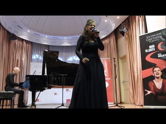 """María Villarroya presenta en la SGAE su disco """"SILENCIOS CANTADOS. EL MUSICAL"""""""