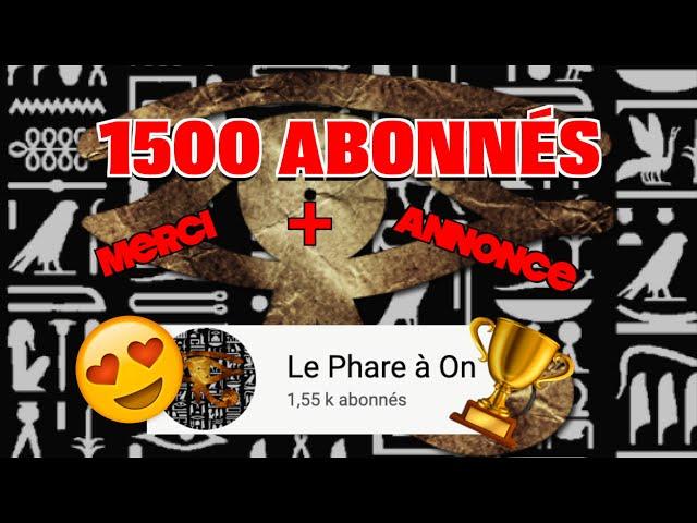 1500 ABONNÉS !! 😱Un GRAND MERCI + ANNONCE pour la suite ! 😁❤️