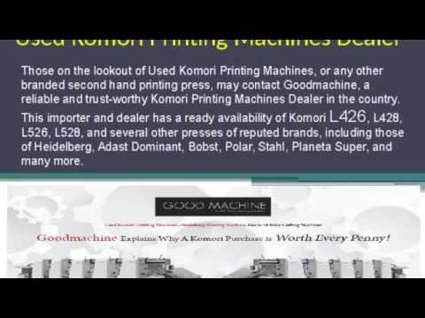 Used Adast Dominant Printing Machines in Europe