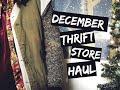 Thrift Haul- December 2015