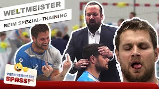 Spezial-Training mit Handball-Weltmeister Mimi Kraus   Verstehen Sie Spaß?