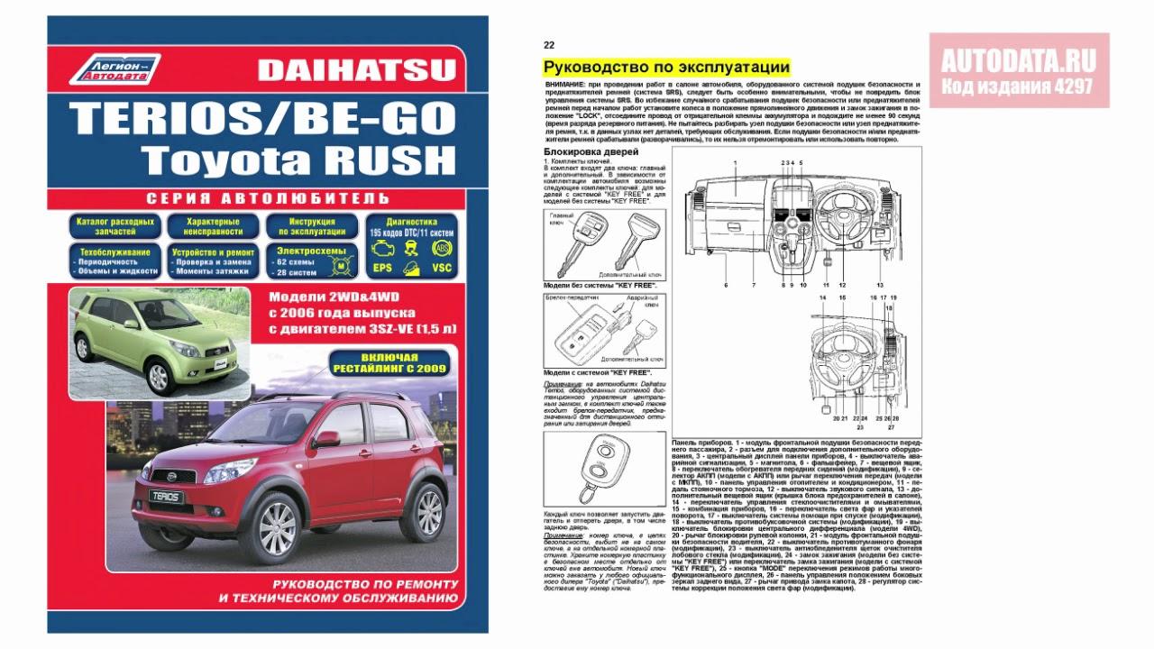 руководство по ремонту дайхатсу yrv 2002 объем 1.3