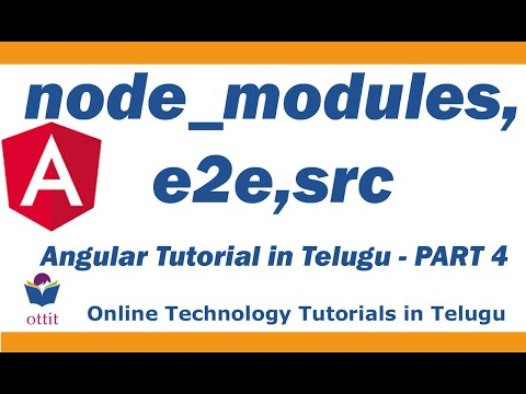 Angular Tutorial In Telugu ( Angular Project Structure - Node_modules, Src, E2e , Others)  Part 4