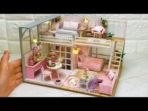 DIY Miniature Dollhouse Kit Girlish Dream with Barbie