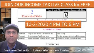 Finance Bill 2020 Amendment in residential status. Join our income tax live class for FREE