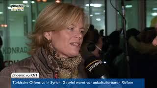 Armin Laschet und Julia Klöckner zur Entscheidung der SPD für Koalitionsverhandlungen am 21.01.18