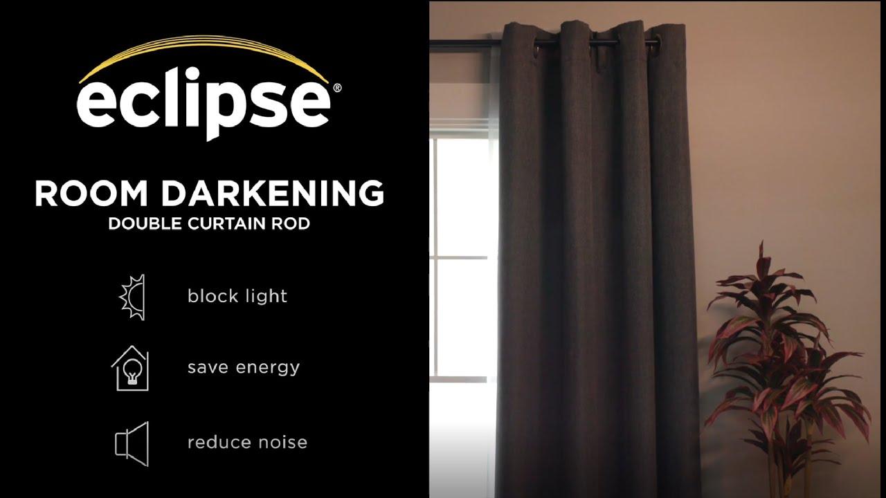 eclipse room darkening double wrap rod installation