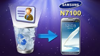 Galaxy Note Recovery: How to Recover Deleted Contacts on Samsung Galaxy Note II (GT N7100)?