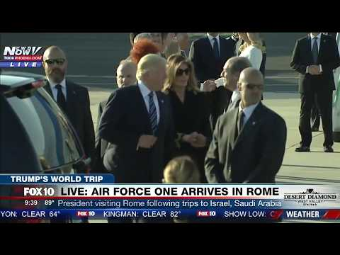 WATCH: President Trump and First Lady Melania Arrive in Rome for Meeting with Pope