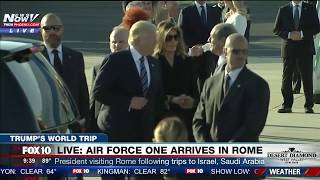 WATCH: President Trump and First Lady Melania Arrive in Rome for Meeting with Pope (FNN)