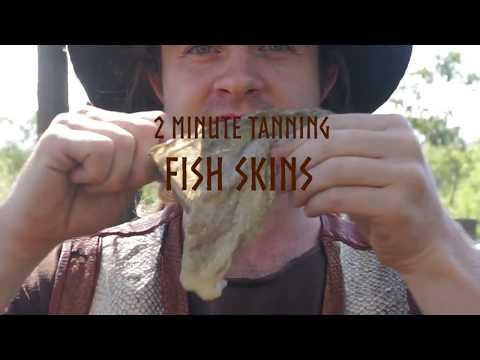 How To Make Your Own Fish Leather In 2 Mins | The Bush Tannery