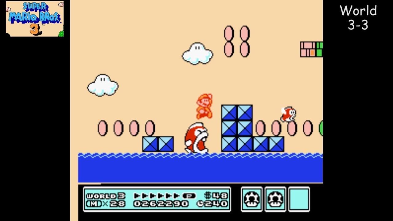 Super Mario Bros 3 Nes Playthrough 03 World 3 Water Land