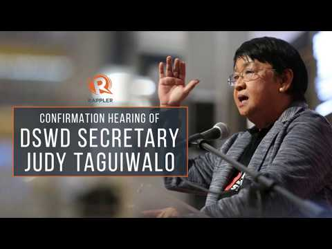 Confirmation hearing of DSWD Secretary Judy Taguiwalo (Part 2)