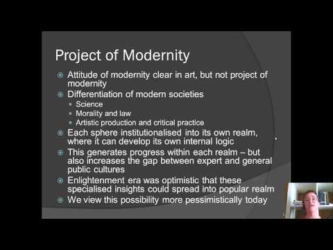 Week 2 Supplemental Jurgen Habermas Modernity an Unfinished Project