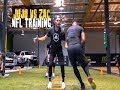 JuJu Smith-Schuster works out with Zac Efron - NFL Training