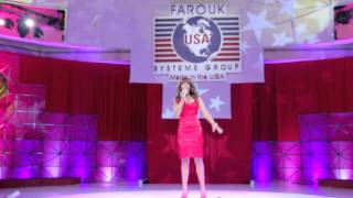 Glennis Grace live in Cancun National Anthem USA at Farouk Systems USA
