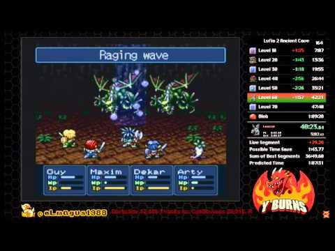 Lufia II Ancient Cave Speedrun in 1:02:47(Twitch Recording)
