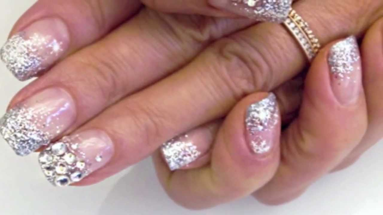 Calgel Winter Design Nails 2012 13 Youtube