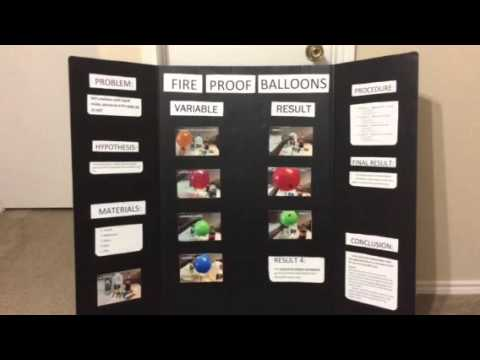 Fire Proof Balloon Experiment - 5th grade Science Fair Project